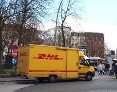 Paketauto von DHL