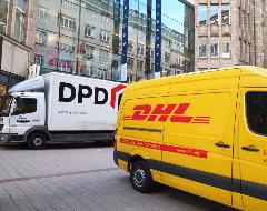Fahrzeuge von DHL und DPD