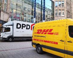 DPD und DHL Fahrzeuge
