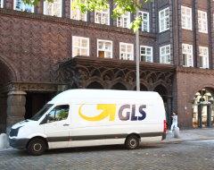 GLS vor dem Chilehaus in Hamburg