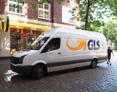 GLS Lieferwagen, Ansicht seitlich
