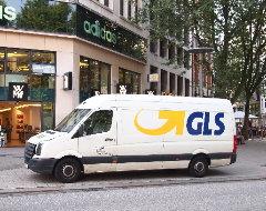 Lieferwagen von GLS Paketdienst