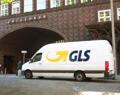 Paketauto von GLS in Hamburg