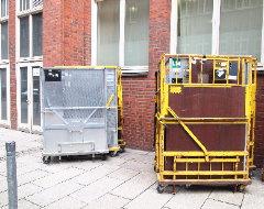 Transportbehälter der Post
