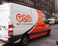 Lieferwagen von TNT Express