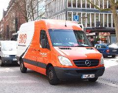 TNT-Express-Auto von vorne