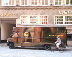 Elektrofahrzeug von UPS