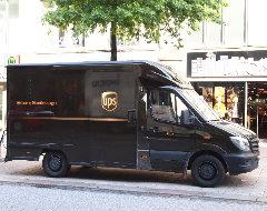 Lieferwagen von UPS