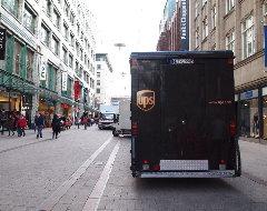 UPS parkt in Fußgängerzone